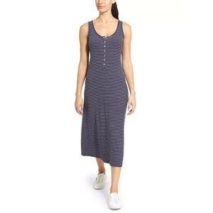EUC Athleta Hermosa Henley Midi Rayon Dress XL